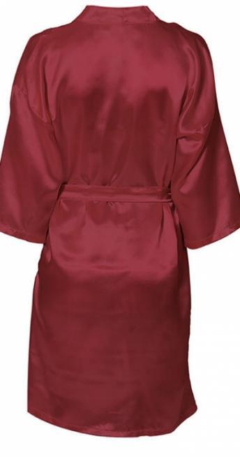 Шелковый женский халат с именной вышивкой